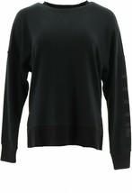 Fila Genie Knit Pullover Sweatshirt Black S NEW 698-417 - $15.81