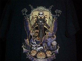 "TeeFury Nightmare LARGE ""King of the Pumpkin Patch"" Before Christmas NAVY - $13.00"