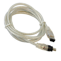 Hqrp Fire Wire 4-6 Pin Cable For Canon GL1 GL2 ZR10 ZR100 ZR20 ZR200 ZR25MC - $11.90