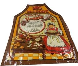 Mrs. McLeod's Original Haggis Recipe Apron England Made Vintage Minky Sc... - $24.44