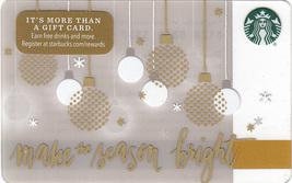 Starbucks 2016 Make The Season Bright Collectible Gift Card New No Value - $3.99