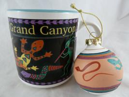 """Grand Canyon 2.5"""" Pottery Christmas Ornament + Arizona Mug Snake Kokopelli - $14.84"""
