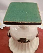 Vintage Glazed Brown on Cream Lighthouse Ceramic Two Handled Urn Planter Vase image 5