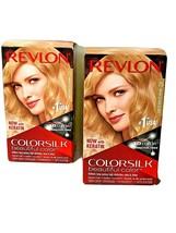 2 Boîtes Revlon Colorsilk Cheveux Couleur Teinture 75 Chaud Blond Doré 3D Amonia - $30.64