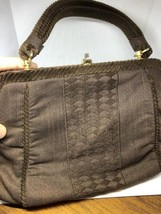 Vintage Italian Brown Chordrouy Handbag Purse Evening Bag - $64.35