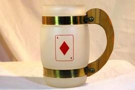 Benner Glass Siesta Ware Ace Of Diamonds White Milk Glass  Mug - $11.69