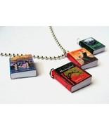 Miniature Book Pendant Necklace - $10.00
