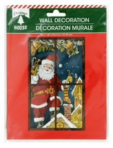 "Christmas Santa Roof Top Plastic Wall Mural 30""x48"" w - $5.99"