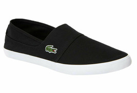 Mens Lacoste Marice BL 2 Fashion Sneaker - Black Canvas [7-33CAM1071024] - $69.99