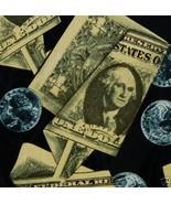 Addiction Money Bills Coin George Washington Black Green Men Neck Tie Z1... - $15.83