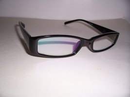 "2.00 COMPUTER READERS GLASSES  ""EYE STRAIN"" BLACK 200 magnification spri... - $14.94"