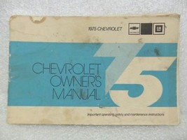 1975 Chevrolet Chevy Owners Manual 16037 - $16.82