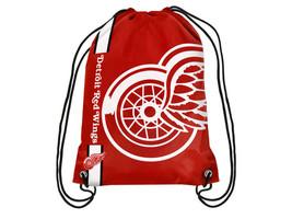 Detroit Red Wings Big Logo NHL Hockey Nylon Drawstring Back Sack Gym Bag  - $12.34