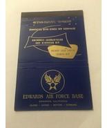 Vintage Matchbook Cover Matchcover US Edwards Air Force Base CA California - $4.51