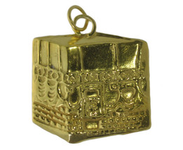 Solid Real Genuine 10K Yellow Gold Kaaba Mecca Hajj Charm Pillar Islam A... - $361.67