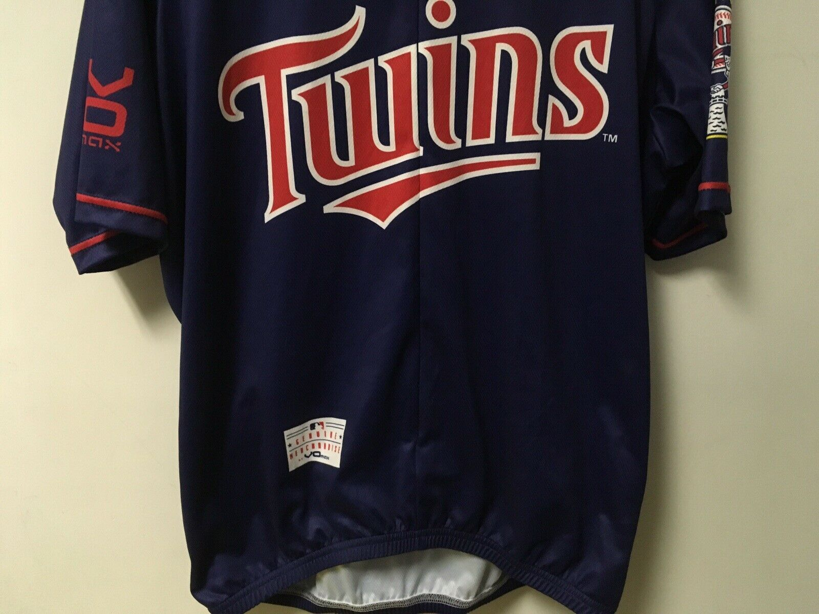 VO Max Minnesota Twins MLB Bike Cycling Jersey Men's XL EUC