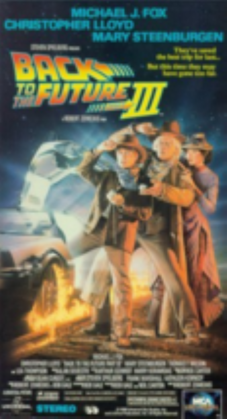 Back to the Future Part III Vhs
