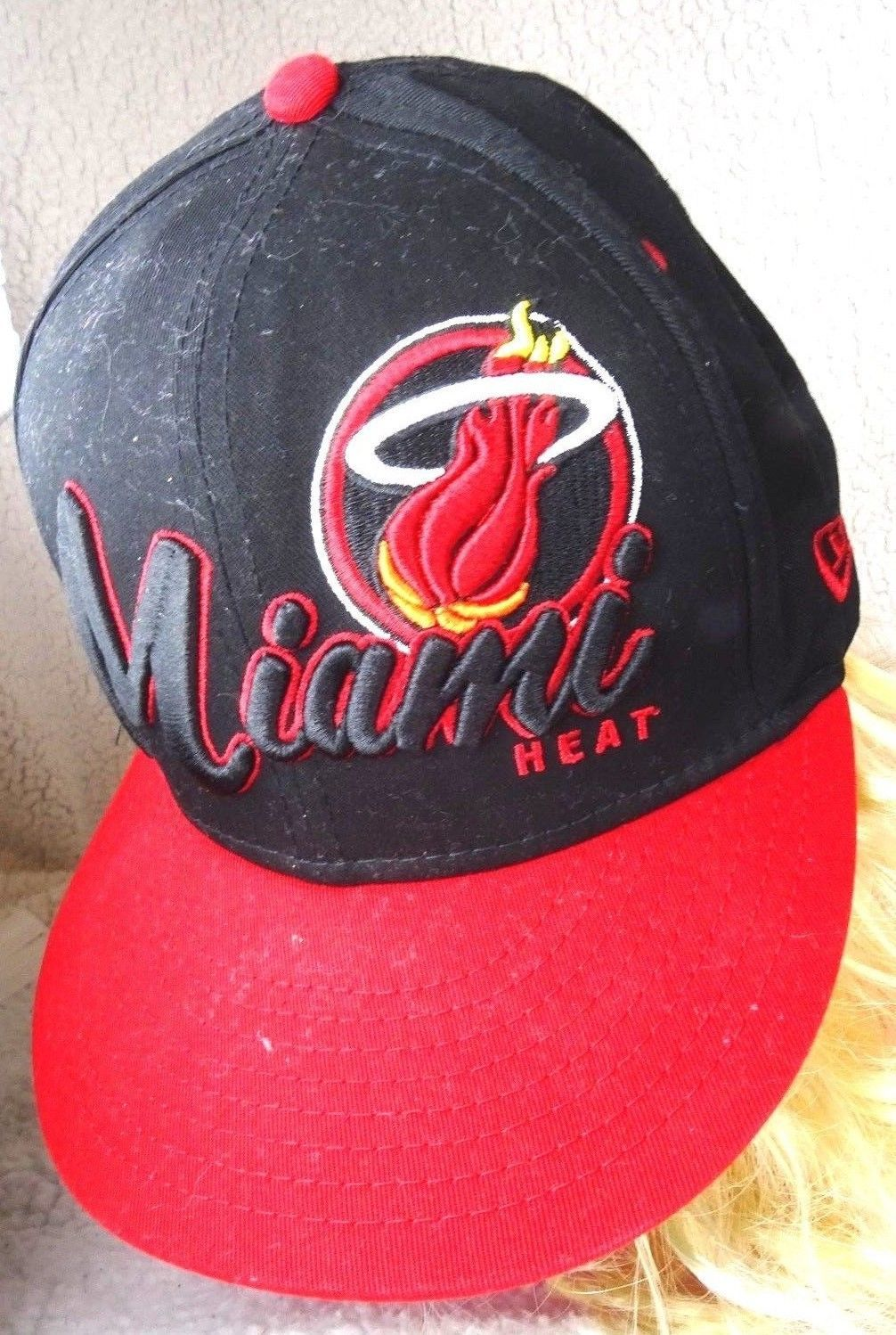 new style abf45 f6db3 57. 57. Previous. New Era Nostalgia Co. Snapback NBA Miami Heat Basketball  Hat Baseball Cap Wool