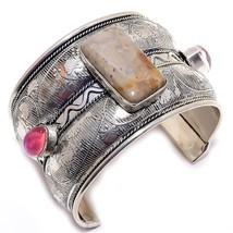 Fossil Coral, Triplet Opal 925 Sterling Silver Cuff Bracelet ADJ.  - $24.99