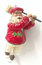 Golfing Santa Ornament 5.5 inches - $17.50