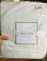 Pottery Barn Teen Ashlyn Duvet Cover Twin Ivory Organic No Shams - $60.83