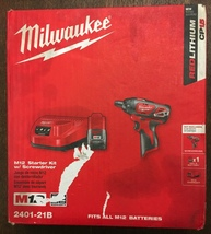 Milwaukee 2401-21B M12 Starter Kit W/SCREWDRIVER NEW-NOT REFURBED-FREE Ship - $70.00