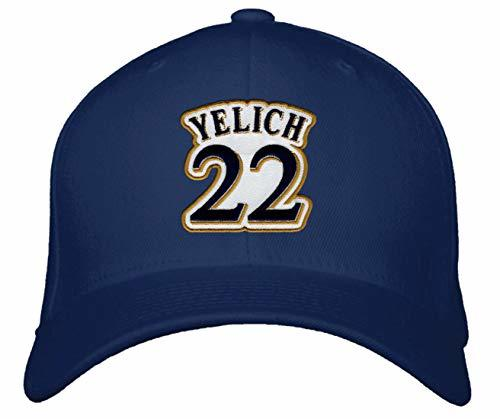 Christian Yelich Hat - Milwaukee Baseball Adjustable Cap (Navy Blue)