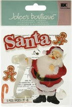 Jolee's Boutique Dimensional Classic Santa Stickers - Checking His List