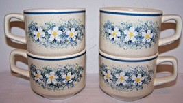 Lot of 4 Cups Lenox Temper-Ware Dew Drops Freezer Oven Table Dishwasher Safe - $19.79