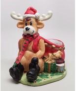 Christmas Decoration Ceramic Reindeer Dish Handmade - $17.70