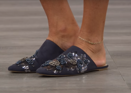 Charles by Charles David Women's Fickle Embellished Mule Navy 7.5 M - $49.49