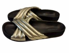 ISABEL MARANT ETOILE SZ 38/8 Silver HOLDEN Sandal Slide Shoe # 4014 image 3