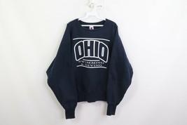 Vintage 90s Champion Inverse Tissage Hommes XL Ohio University Ras Du Co... - $79.30