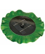 "Solar Floating Water Lily Pad Fountain 11"" Diameter, Pool or Koi Pond De... - $49.45"