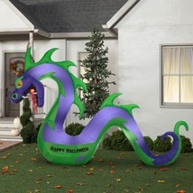 New Gemmy Halloween 10.5 ft Long Serpent with Flaming Mouth Airblown Inf... - $115.00