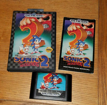 Sonic The Hedgehog 2 Sega Genesis Complete Manual Tested Working Fast Shipping - $9.46