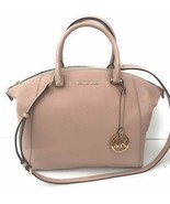 MICHAEL KORS RILEY LARGE PINK BALLET LEATHER TOP ZIP SATCHEL BAG PURSENWT! - $219.99