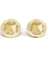 Pyramid Iced Out New Post Stud Earrings King Tut Egyptian Pharaoh - $11.90