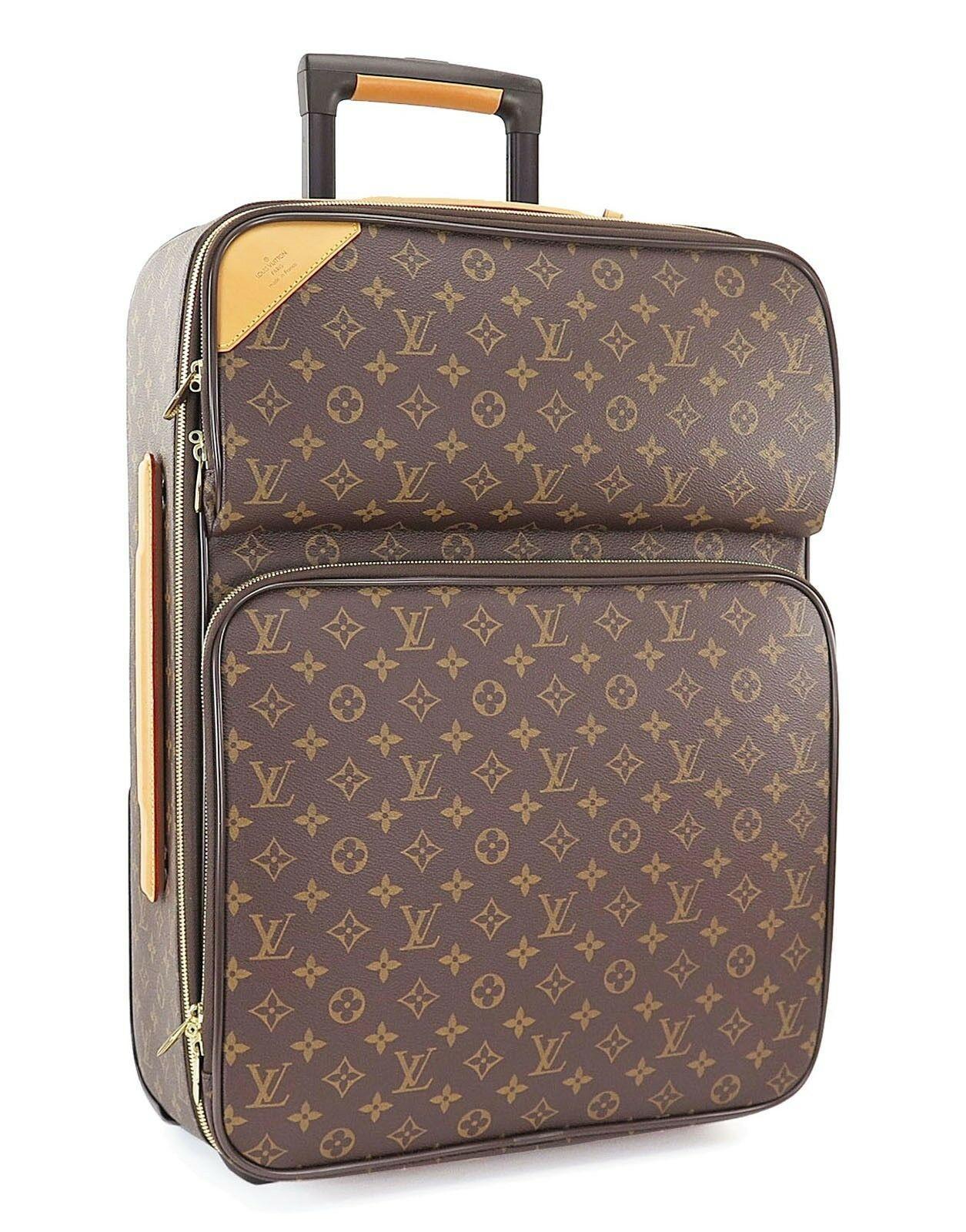 Auth LOUIS VUITTON Pegase 55 Business Monogram Travel Rolling Suitcase #30667