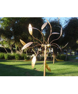 Copper Outdoor Windmills Large Kinetic Wind Sculpture Dual Side Wind Spinners - $220.00