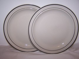 Lot of 2 Gibson Plates  Housewares Dishwasher Microwave Safe China White... - $9.85