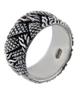 Solid Sterling Silver Rope & Studded Band Ring»R212 - $29.60