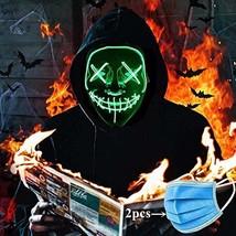 Halloween Decoration Cold LED LightUp Luminous Halloween Mask Diy Festival Danci