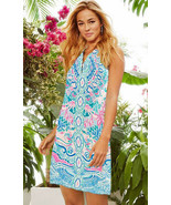Lilly Pulitzer Kelbi Hot Tamale Engineered Stretch A Line Shift Dress 16 - $157.50