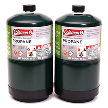 COLEMAN 2 Pack Propane Fuel Bottle Cylinder 16 oz Camping Stove Gas Prop... - $19.99