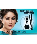 Lakme Eyeconic Kajal Deep Black 0.35g  22HR Stay No Smudge Waterproof - ... - $7.01