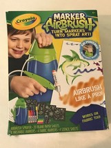 Crayola Marker Airbrush Spray Art Artist Stencil Sheets Arts and Crafts NIB - $11.99