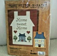 Vintage Bucilla Counted Cross Stitch N Paint Home Sweet Home Craft Projects Kit - $15.83
