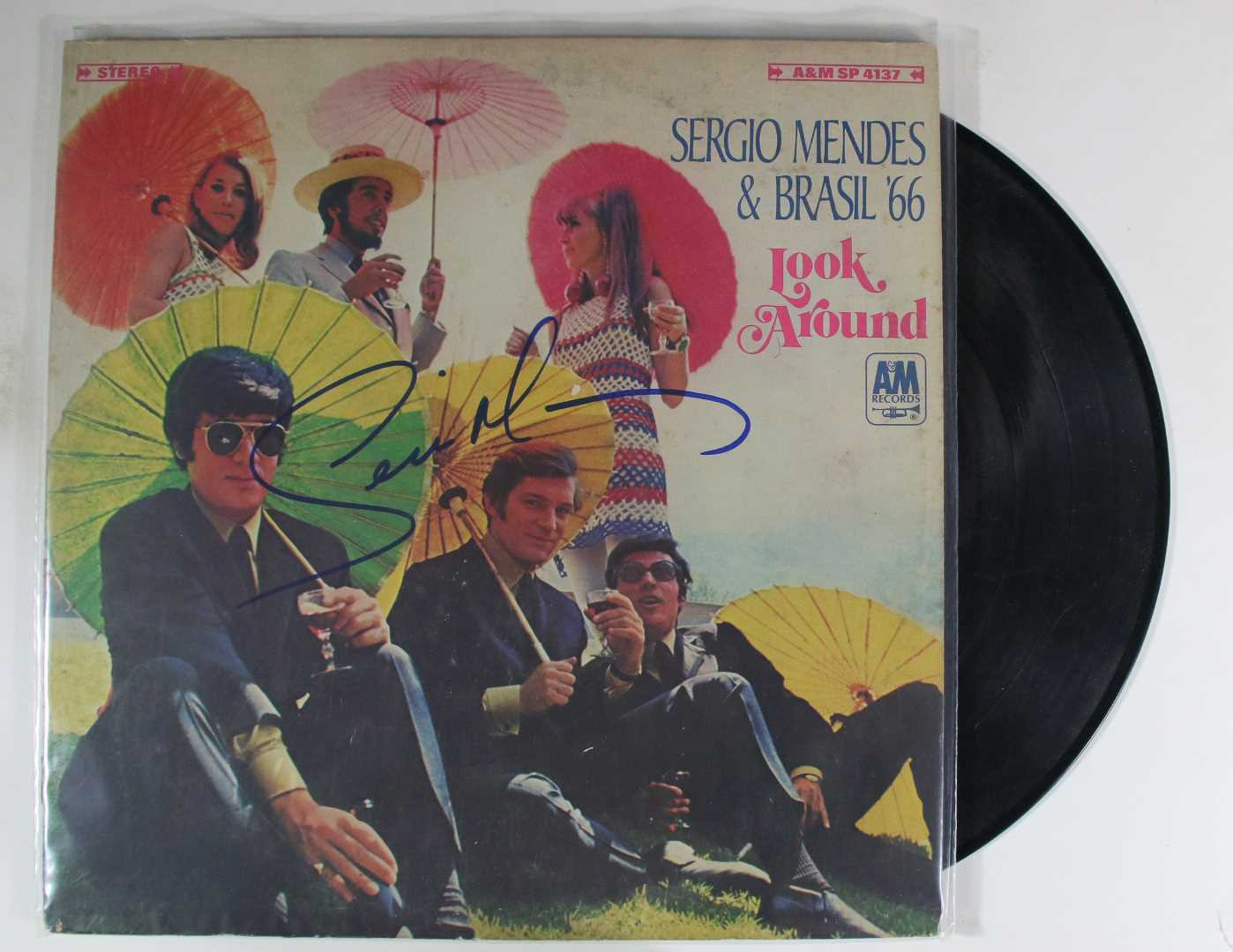 "Primary image for Sergio Mendes Signed Autographed ""Look Around"" Record Album"