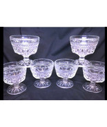 "Vtg Anchor Hocking WEXFORD Set of 6 3 5/8"" Sherbet Dessert Glasses Disc'... - $24.08"